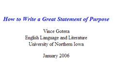 When do you write your personal statement